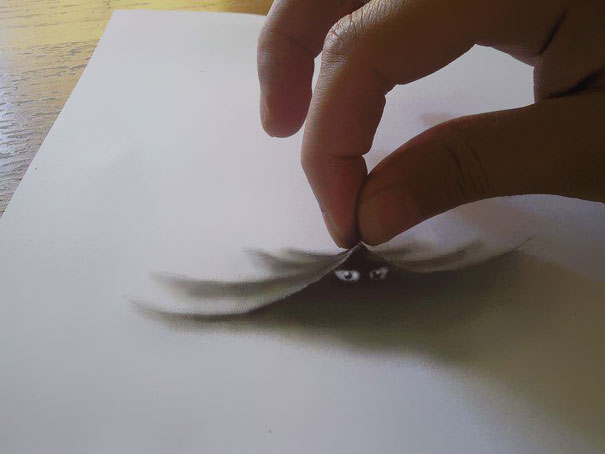 3d optical illusions jjk airbrush 3 3D Pencil Drawings by Ramon Bruin