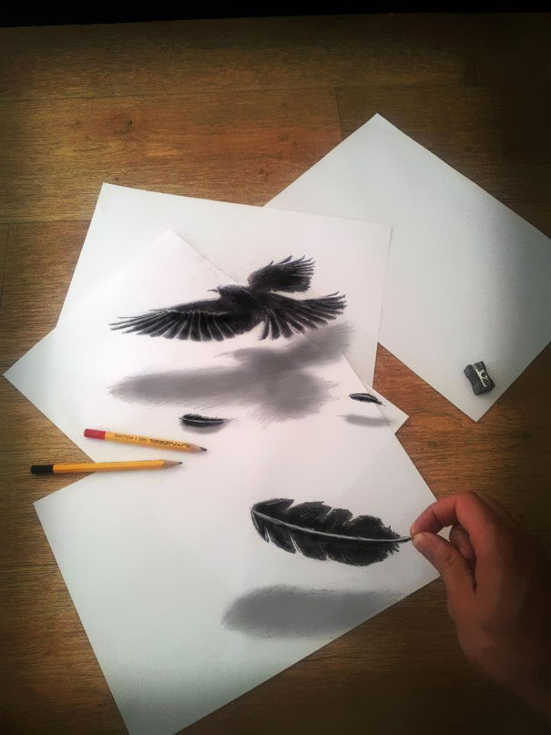 3d optical illusions jjk airbrush 6 3D Pencil Drawings by Ramon Bruin