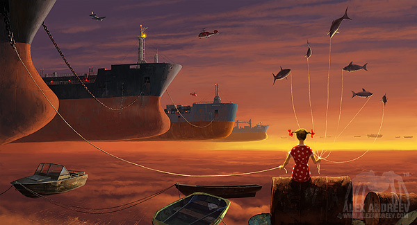 4f5ec000190dad6f0a885cee0e1f0509 Separate Reality Paintings by Alex Andreyev