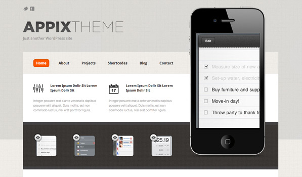 appix theme1 30 Free PSD Web Design Templates