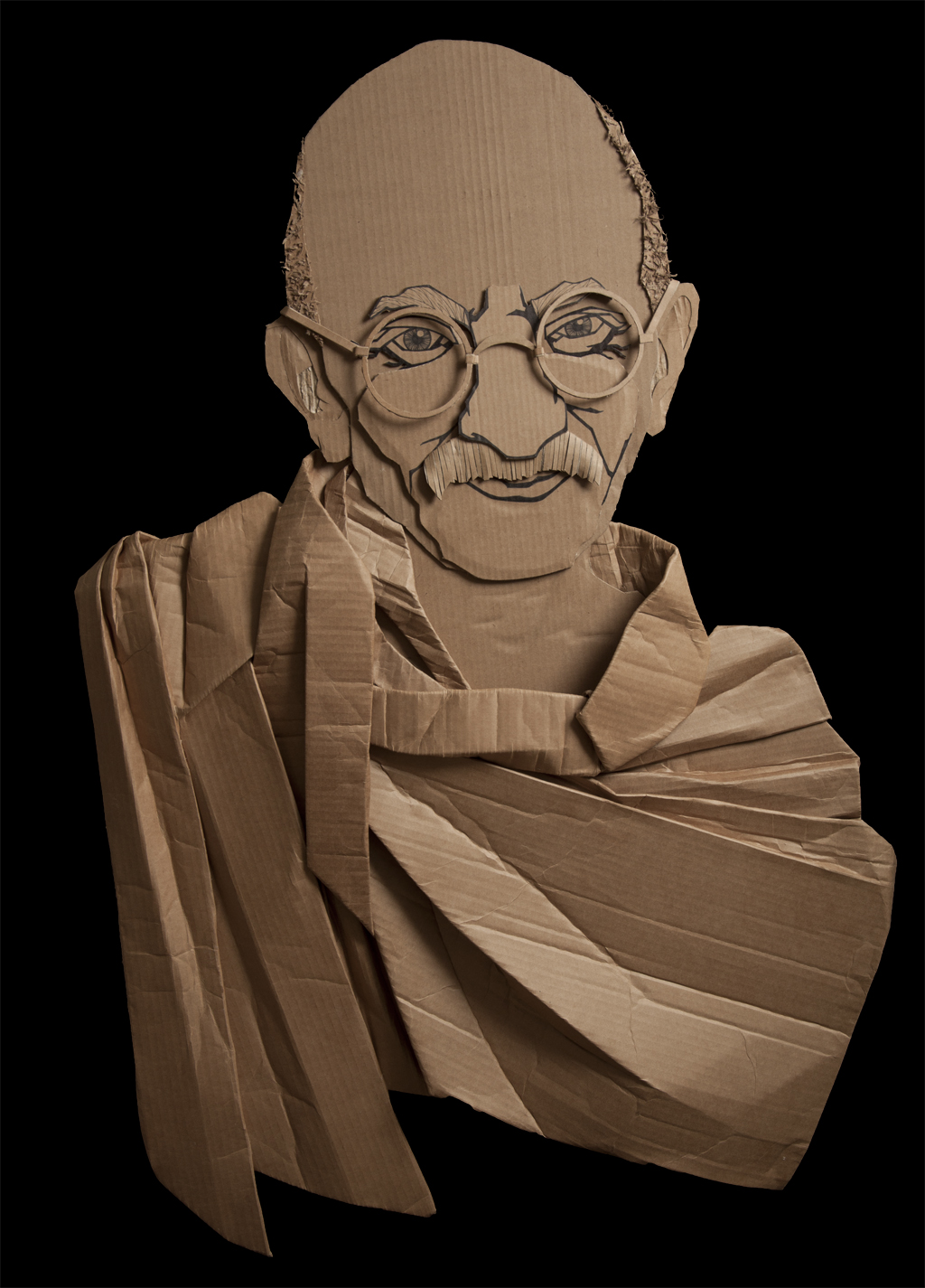 bapu 011 Recycled Art Project by Ali Golzad
