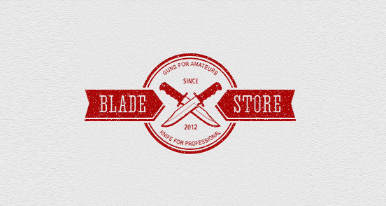 bladestore l1 30 Creative Ribbon Logo Designs