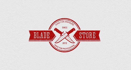 bladestore l1 30 Creative Ribbon Logo Designs
