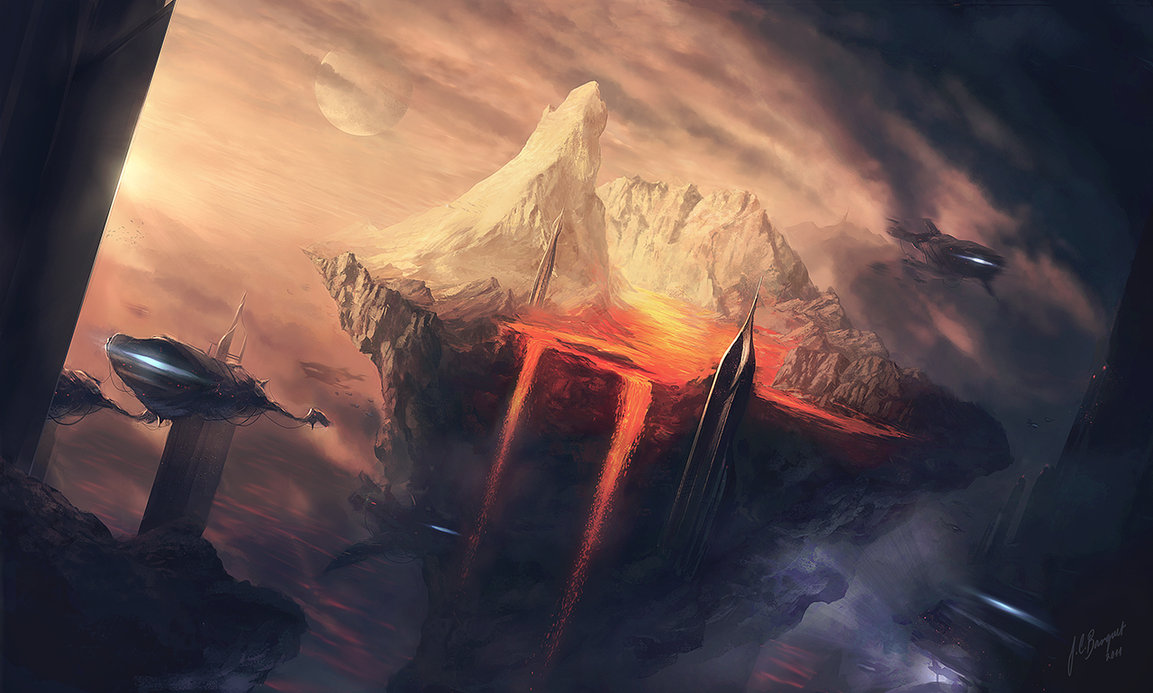 caldera by jcbarquet d4ij2rp1 Digital Fantasy Paintings by Juan Carlos Barquet