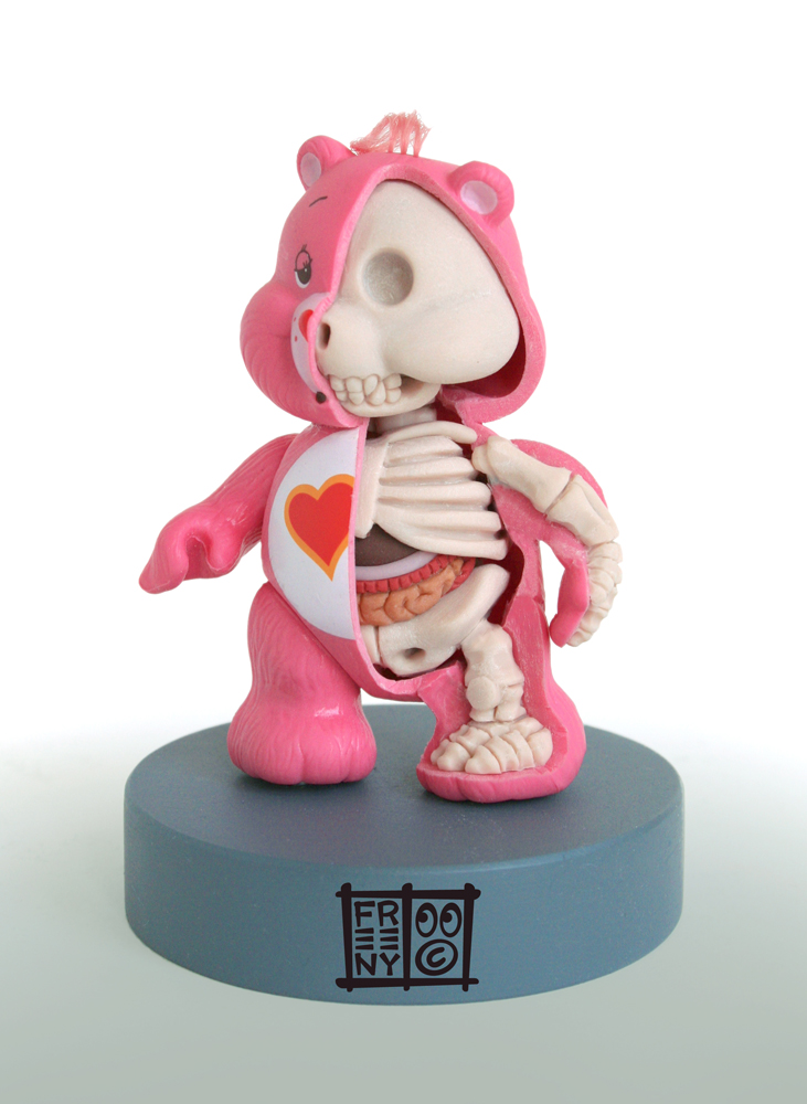 care bear anatmical sculpt by freeny d3b6wph Creative Character Anatomy Sculptures by Jason Freeny