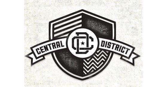 central district l1 30 Creative Ribbon Logo Designs