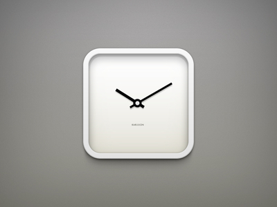 Clock White by Hamza
