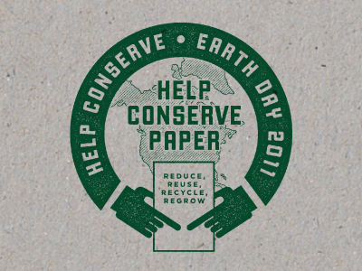 Conserve Paper by Dustin Wallace