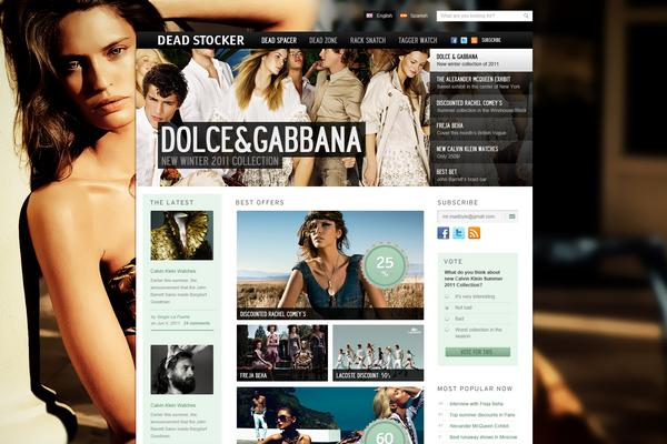 Dead Stocker – Fashion Free PSD Website Template