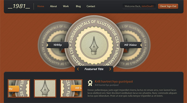 digital rust1 30 Free PSD Web Design Templates