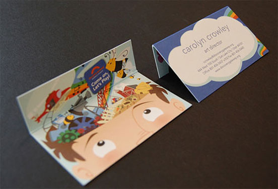 discovery gateway business card l1 25 Illustration Based Business Card Designs