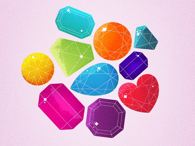 dribbble11 Inspiration Mix: Gems, Jewels, Crystals and Diamonds
