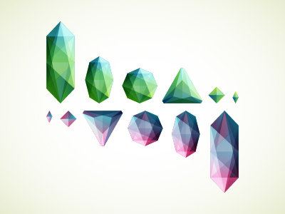 dribbble 011 Inspiration Mix: Gems, Jewels, Crystals and Diamonds