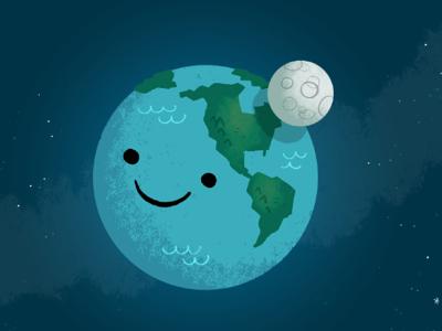 Earth n' Moon by John Martz