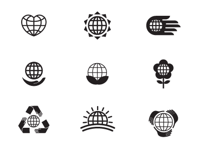 Earth Day Logo Options by Dustin Wallace PR