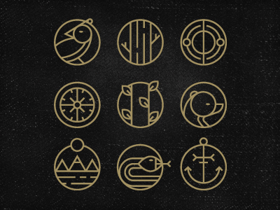 Pictograms by Andrei Bacter