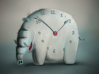 elephant clock1 35 Inspirational Clock & Watch Designs