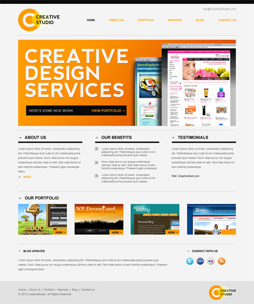 free website templates 11 30 Free PSD Web Design Templates