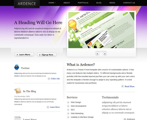 "Free ""Ardence"" PSD by Cosmive"