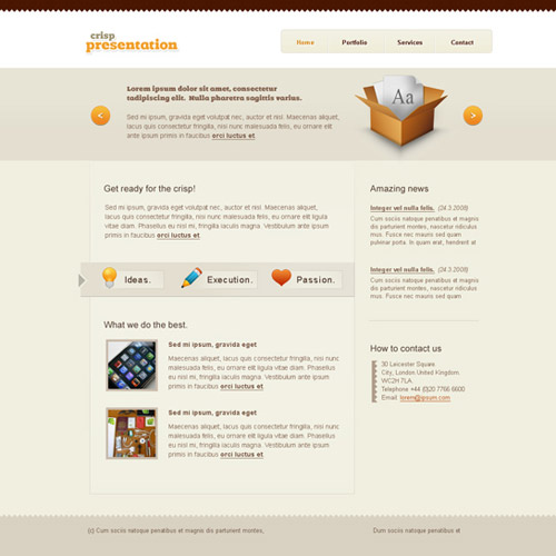 free website templates 251 30 Free PSD Web Design Templates
