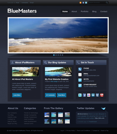 free website templates 421 30 Free PSD Web Design Templates