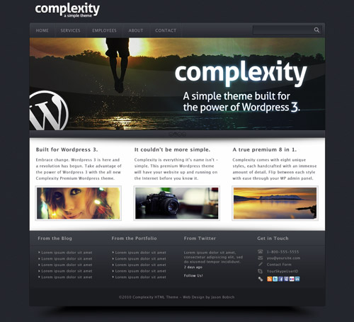 "Free ""Complexity"" PSD by ThemeBlvd"
