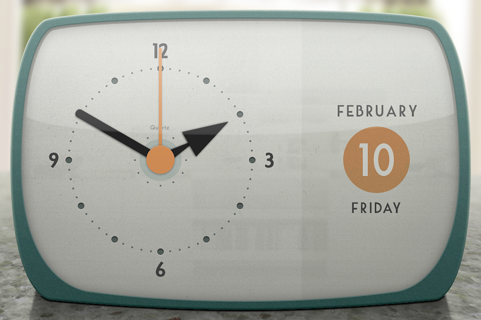 Retro Kitchen Clock by Rich Kern