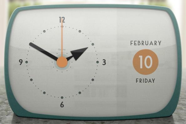 Retro Kitchen Clock by Rich Kern