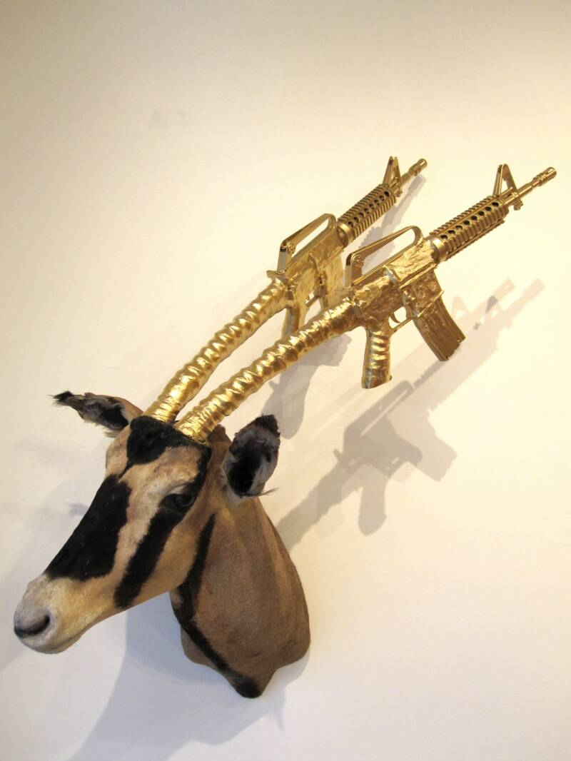 gazelle Unique Taxidermy Sculptures by Peter Gronquist