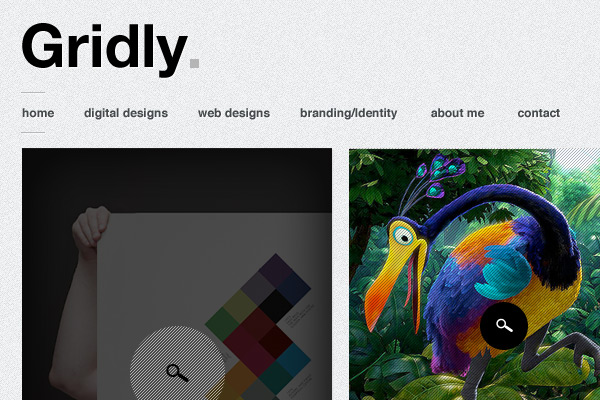gridly1 30 Free PSD Web Design Templates