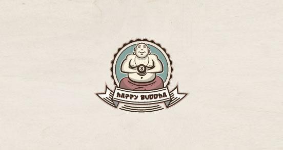 happy buddha l1 30 Creative Ribbon Logo Designs