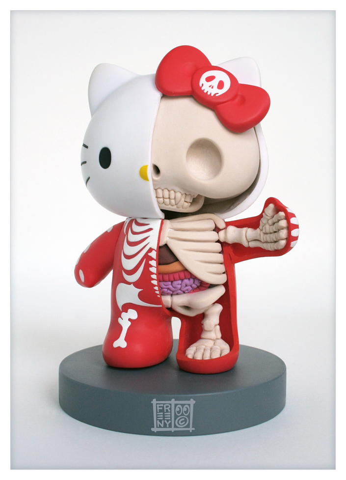 hello kitty anatomical sculpt by freeny d31w7751 Creative Character Anatomy Sculptures by Jason Freeny