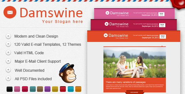 Damswine E-mail Template