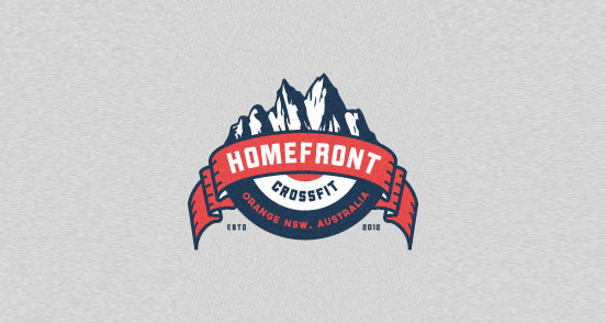 homefront crossfit l1 30 Creative Ribbon Logo Designs