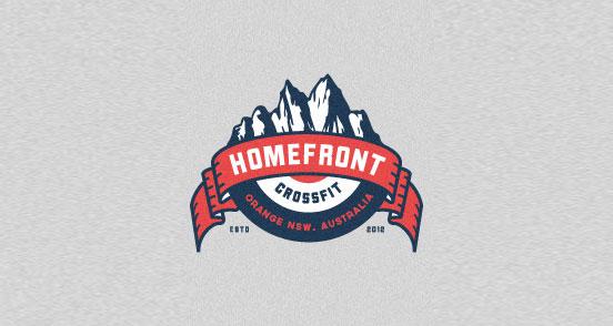 homefront crossfit l1 30 Creative Ribbon Logo Designs
