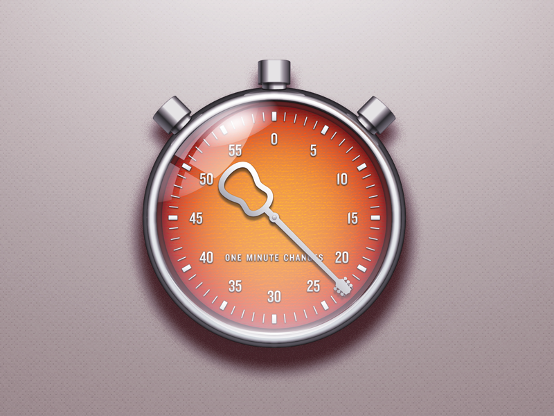 Chronometer app icon by Piet van Dongen