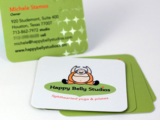 illustration business cards happy belly studios1 25 Illustration Based Business Card Designs