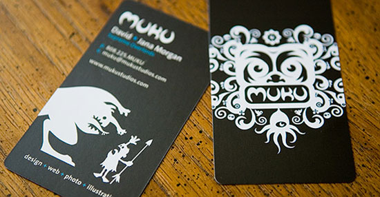 illustration business cards muku studios1 25 Illustration Based Business Card Designs