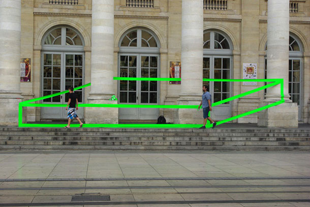 ingenious creative cubes from neon tape by aakash nihalani 10 Geometric Street Art Created With Luminescent Tape