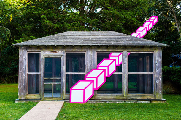 ingenious creative cubes from neon tape by aakash nihalani 8 Geometric Street Art Created With Luminescent Tape