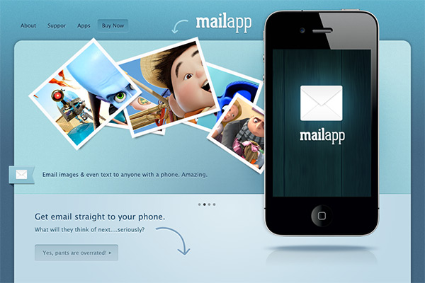 iphone app website template 21 30 Free PSD Web Design Templates