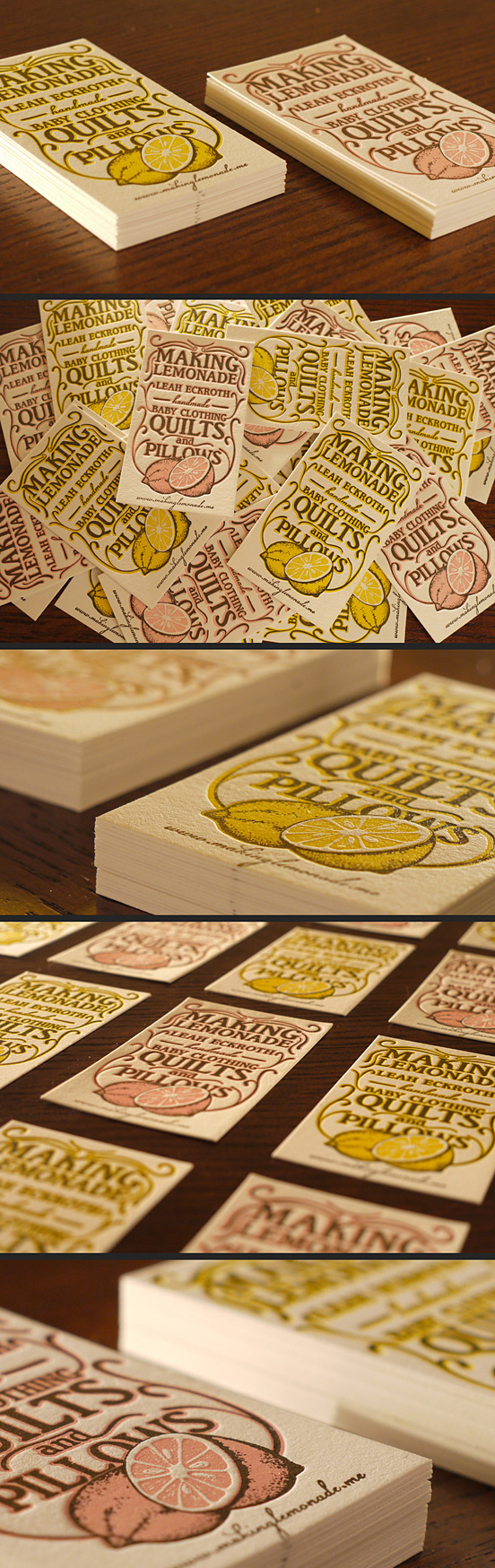 Lemonade Business Cards by Print&Grain