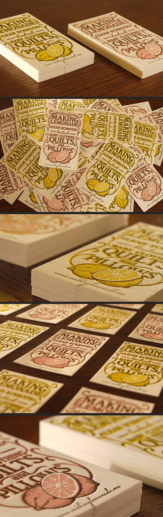 Lemonade Business Cards by Print&Grain