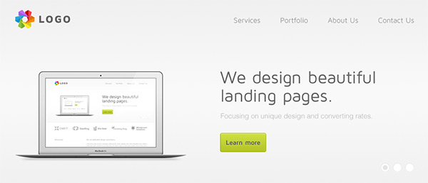 light1 30 Free PSD Web Design Templates