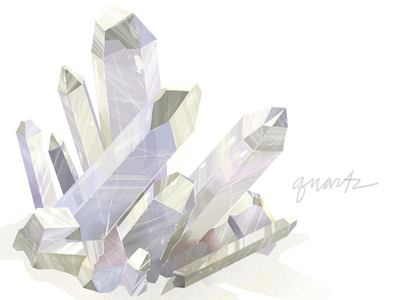 lindsaynohl quartzcrystal dribbble 1x1 Inspiration Mix: Gems, Jewels, Crystals and Diamonds