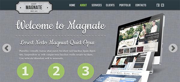 magnate1 30 Free PSD Web Design Templates