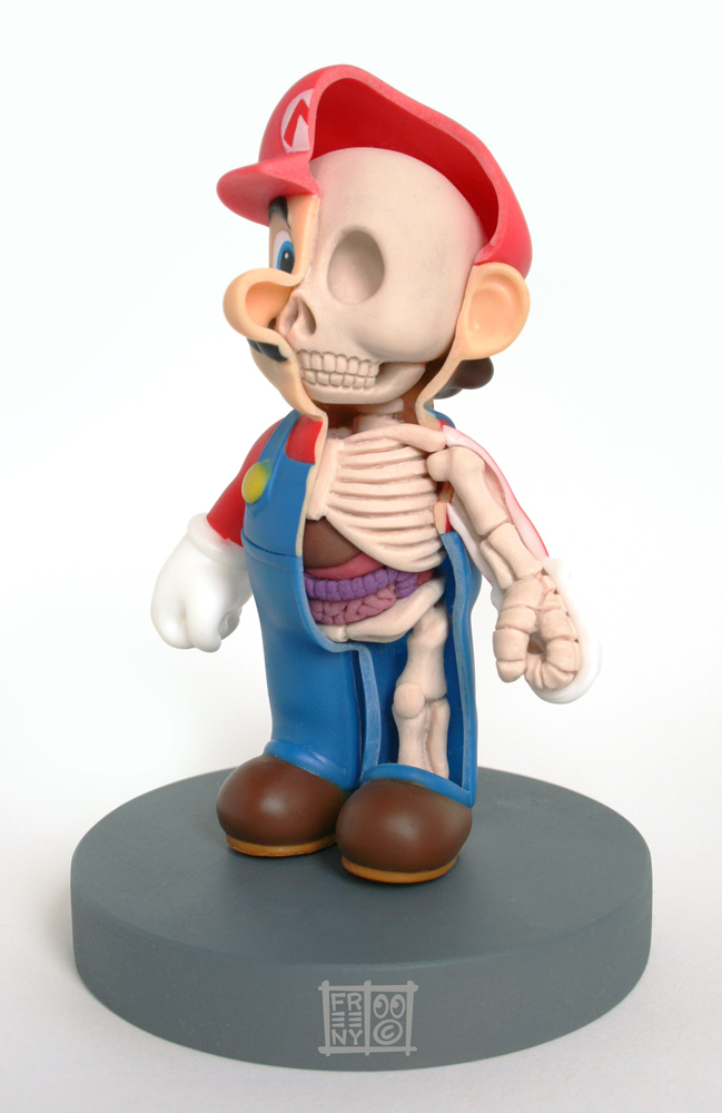 mario anatomy sculpt model by freeny d2yza0w Creative Character Anatomy Sculptures by Jason Freeny