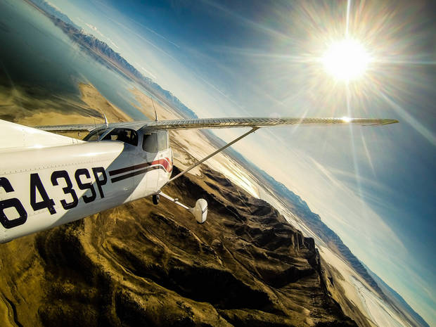 Flying over Salt Lake by Tom Wallisch