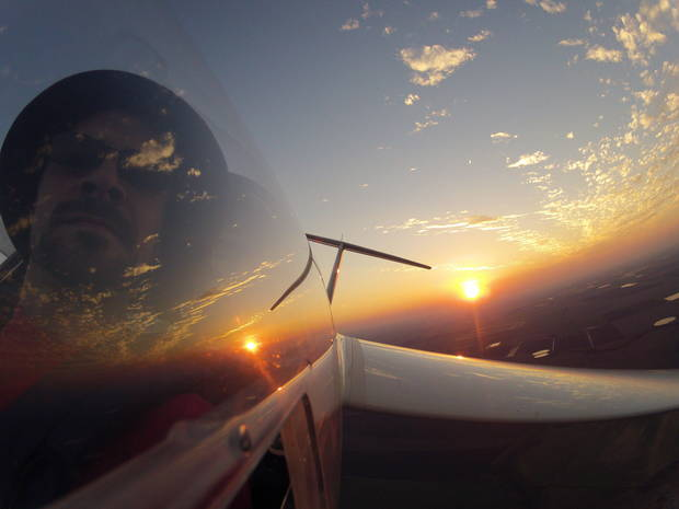 Sailplane Sunset by Chad Nowak