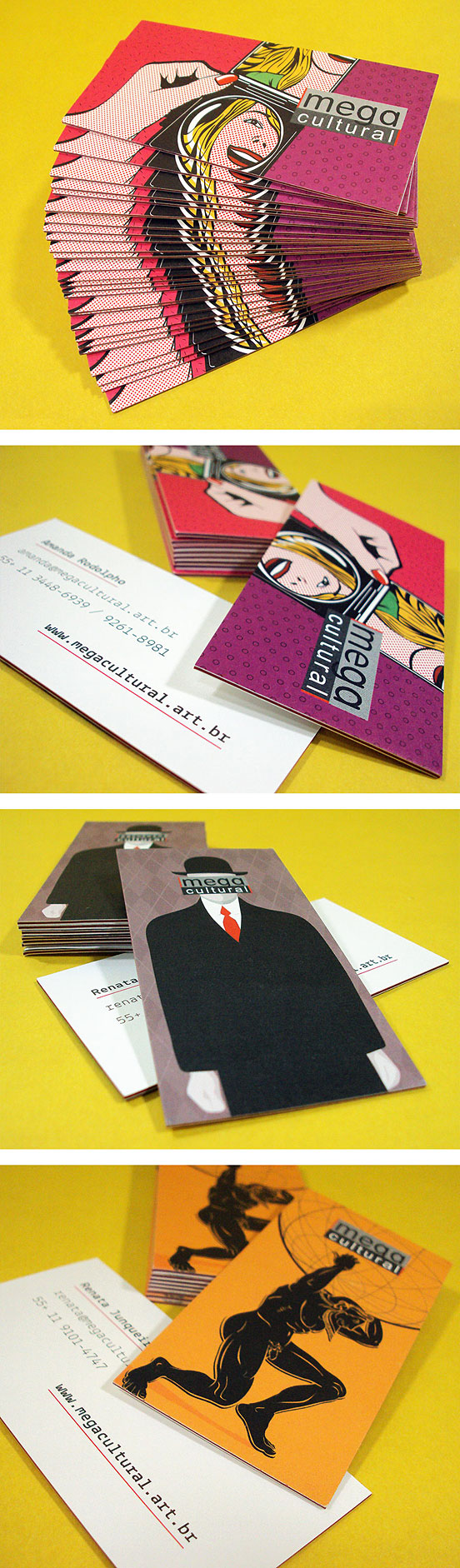 mega cultural business cards l1 25 Illustration Based Business Card Designs